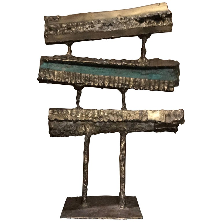 Midcentury Organic Brutalist Abstract Sculpture