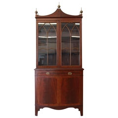 Antique English Mahogany Banded Edge Cabinet