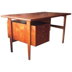 Mid-Century Modern Kai Kristiansen Danish Teak Desk