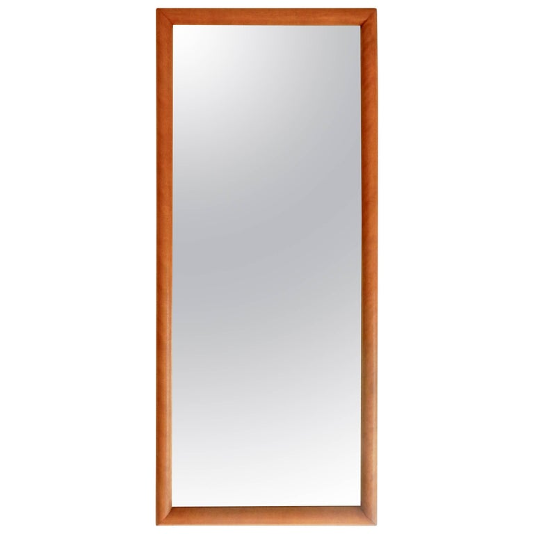 1960s Russel Wright for Conant Ball Maple Mirror