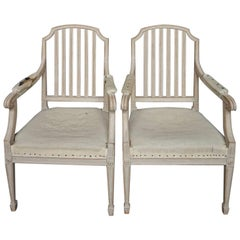 Pair of Swedish Open Armchairs