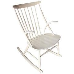 Illum Wikkelso White Rocking Chair Rocker