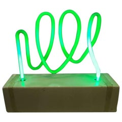 Green Neon Lamp by Diego Mattahi