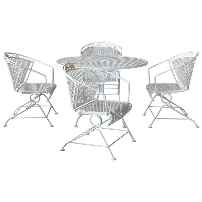 Vintage Five Piece Patio Dining Set For