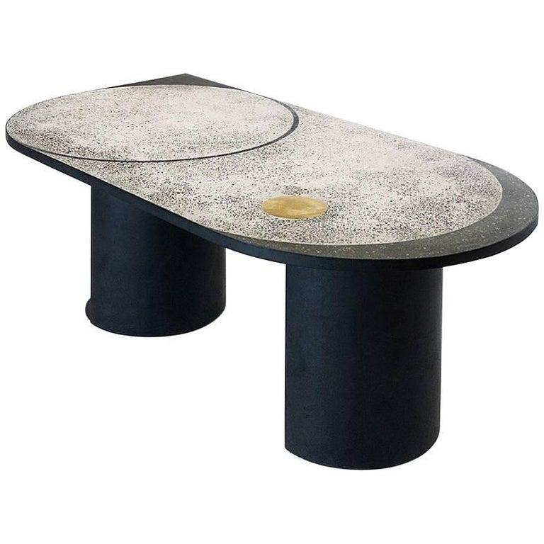 Mosaic Geometric Brass Table, Rooms