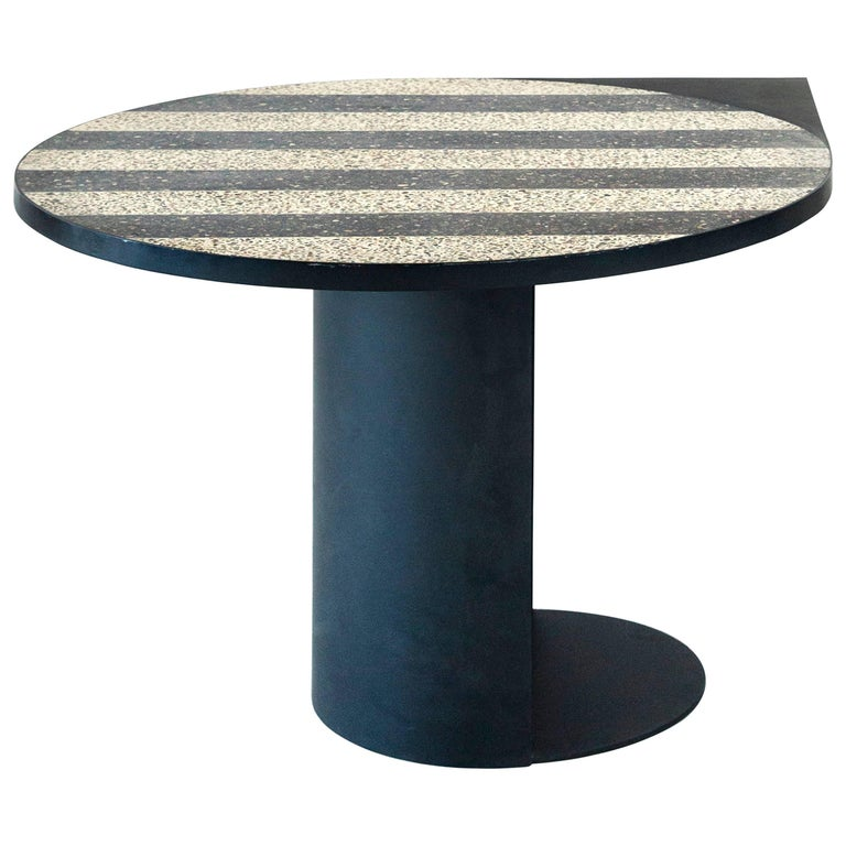 Stripy Mosaic Brass Table, Rooms