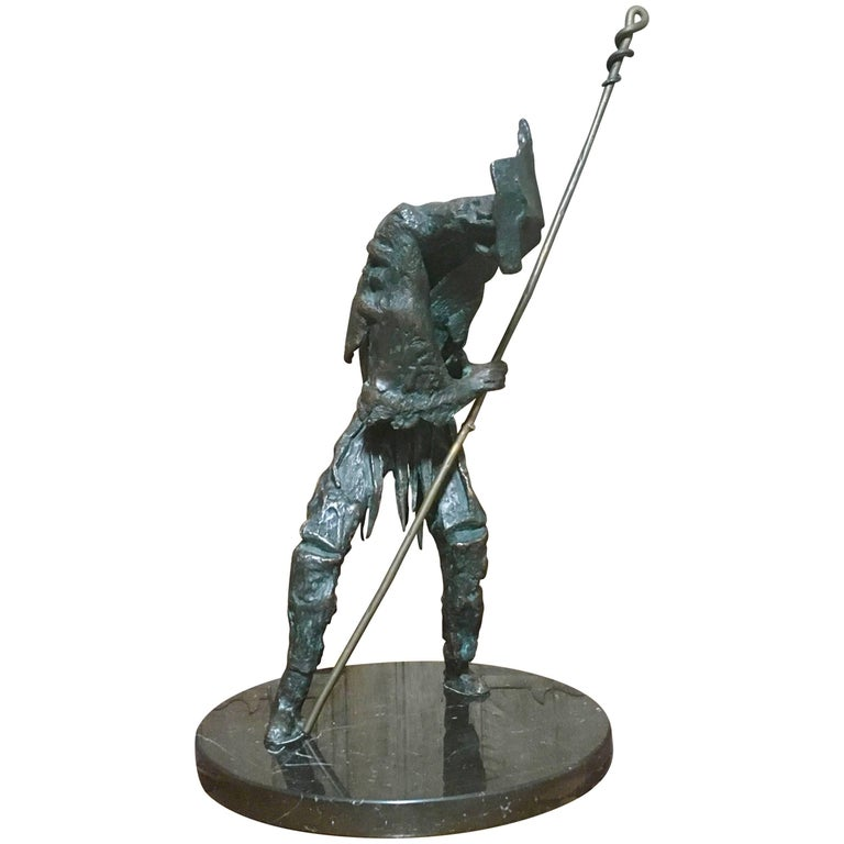 Abstract Bronze Sculpture of Don Quixote