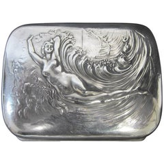 American Art Nouveau Period Sterling Silver Cigarette Case
