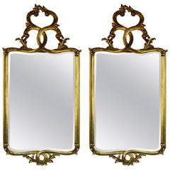 Pair of Hand-Carved Italian Mirrors