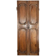 Pair of French Antique Wood Doors or Shutters
