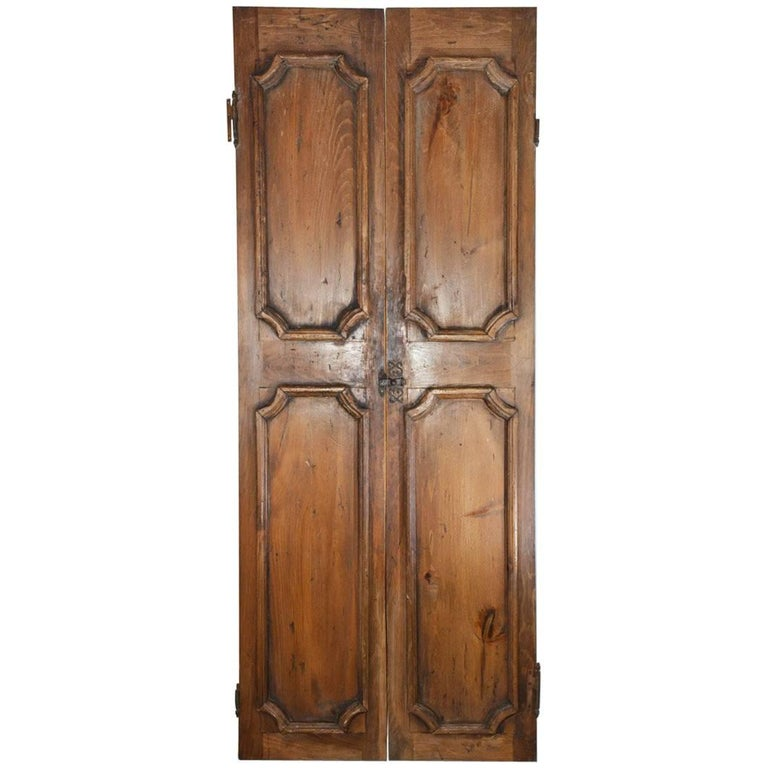 Pair of French Antique Wood Doors or Shutters For Sale - Pair Of French Antique Wood Doors Or Shutters For Sale At 1stdibs
