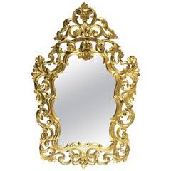 Italian Baroque Style Giltwood Mirror