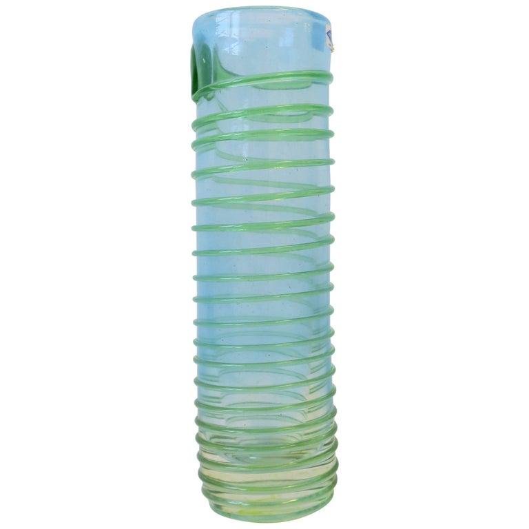 Signed Finnish Art Glass Vase