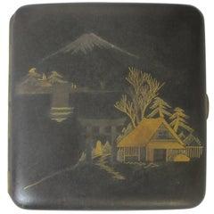 Japanese 24-Karat Gold Plated Cigarette Case
