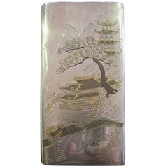 Japanese Silver Cigarette Case