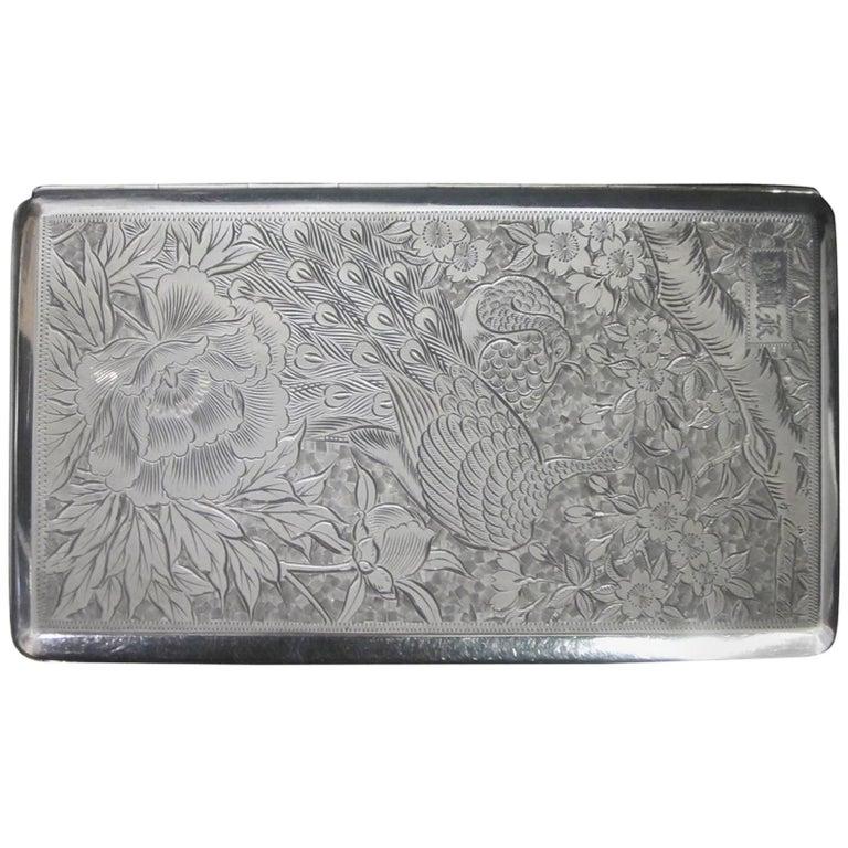 Japanese Silver Cigarette Case
