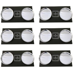 Christofle Set of 12 Plated Silver Coasters in Their Original Six Boxes