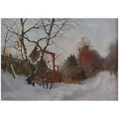 Snow Landscape Harald Pryhn