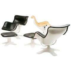 Set of Three Karuselli Lounge Chairs by Yrjö Kukkapuro