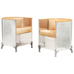 Mats Theselius Pair of 'Aluminium Armchair' for Källemo, Sweden, after 1990