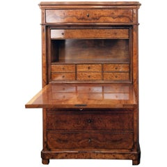 19th Century Biedermeier Secretary Walnut