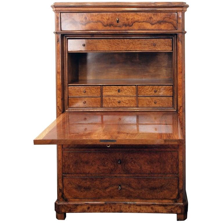 19th Century Biedermeier Secretary Walnut For Sale
