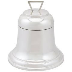 1928 Antique Sterling Silver 'Bell' Inkwell