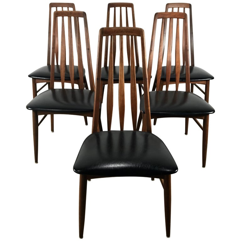 "Set of Six Danish Modern ""Eva"" Chairs by Niels Kofoed Denmark"