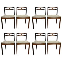 Rosewood Dining Chairs by Johannes Andersen for Christian Linneberg, Set of 8