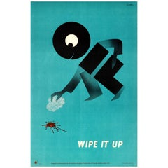 Original Royal Society for the Prevention of Accidents ROSPA Safety Poster - Oil