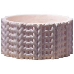 Tricot Vase Short, Pink Marble