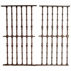 Set of Two Grilles Wrought Iron Baroque, 17th Century