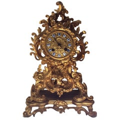 French Gilt Mantel Clock