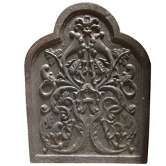 Cast Iron Fireplace Plaque, 19th Century