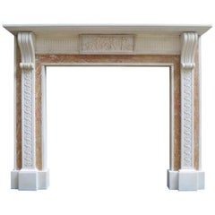 Antique Georgian Style Marble Fireplace Mantel