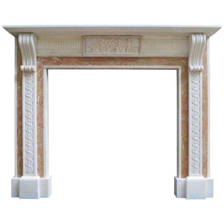 Antique Georgian Style Marble Fireplace Mantel