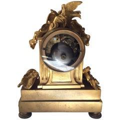 Mantel Clock Gilt Bronze