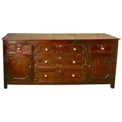 18th Century Oak Long Dresser Base