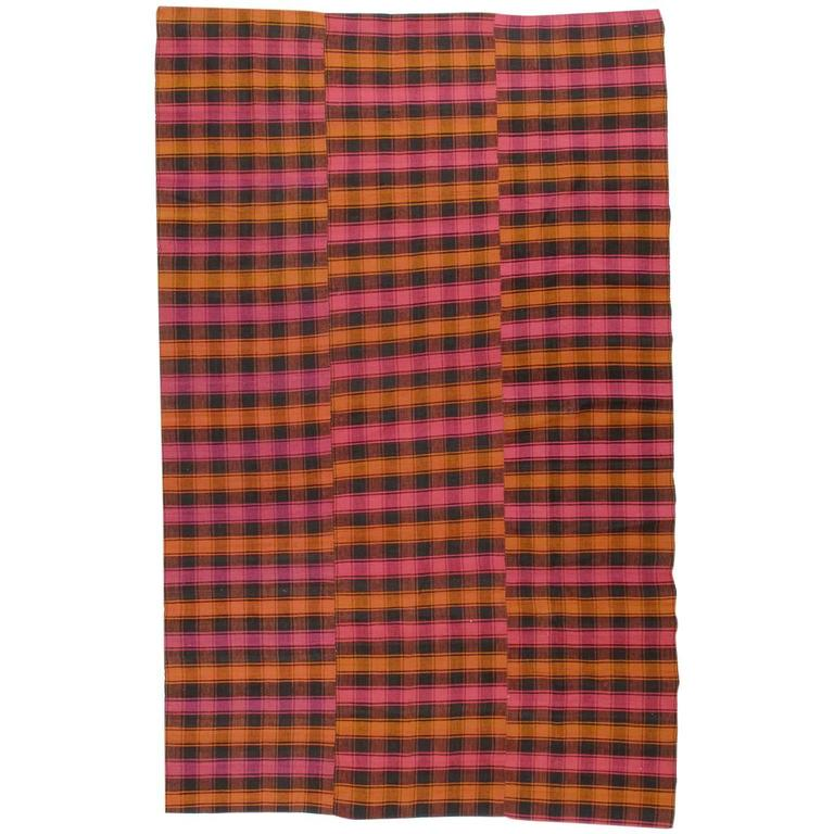 Plaid Cover Rug For Sale