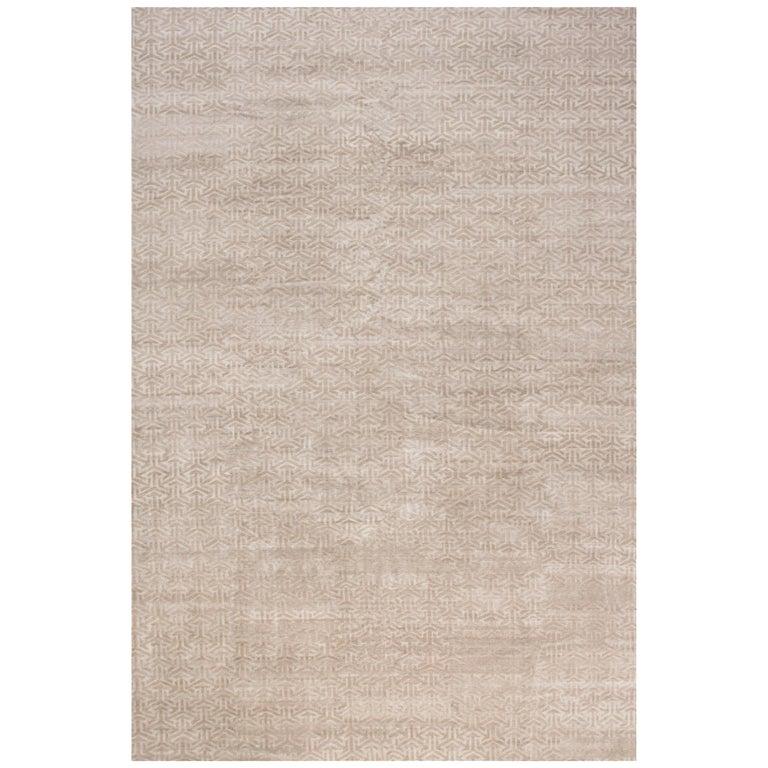 Modern Terra Rug in Natural Wool