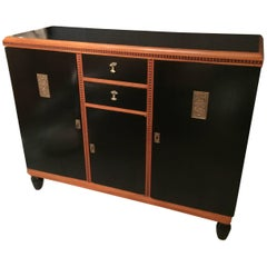 Marvelous Art Deco Style Ebonized Cabinet