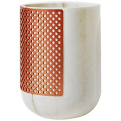 Rabbet Vase 01, Pink or White Marble and Copper