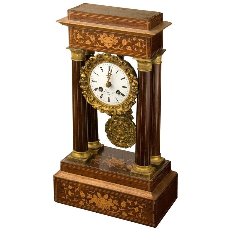 Table Clock Napoleon III, France, Second Half of the 19th Century