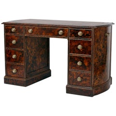 Painted Faux Tortoiseshell Shaped Kneehole Desk