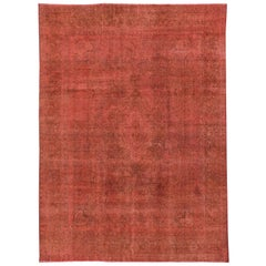 Vintage Red Overdyed Rug, 9.04x12.11