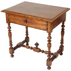 Antique Louis XIV Style Walnut Occasional Table
