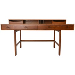 Teak Flip-Top Partners Desk by Jens Quistgaard for Peter Løvig, circa 1970