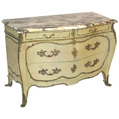 Louis XV Style Painted Bombe Chest of Drawers