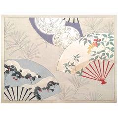 Japan Brilliant Color Fashion Woodblock Prints Album 40 Frameable Prints, 1933