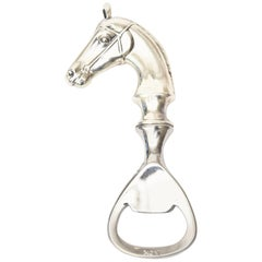 English Hallmarked Sterling Silver Horse Bottle Opener / Barware